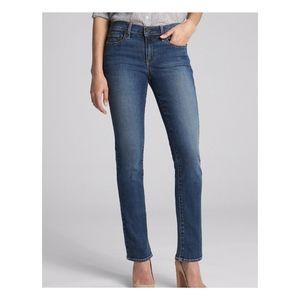 Gap Slim Fit Stretch Mid Rise Straight Leg Jeans 8